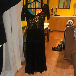 Betsey Johnson long black dress